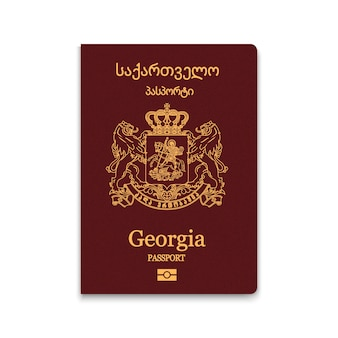 Cover passport of georgia