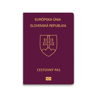 Cover passport of slovakia