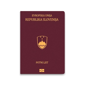 Cover passport of slovenia