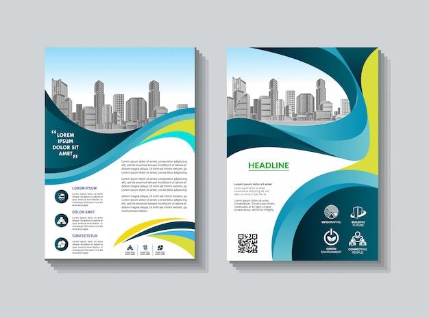 Cover template a4 size business design relazione annuale