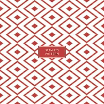 Modello di copertina con motivo geometrico marrone e bianco su sfondo rosso. sfondo senza soluzione di continuità.