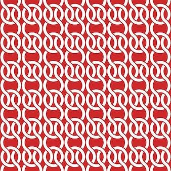 Modello di copertina con motivo geometrico rosso e bianco. sfondo senza soluzione di continuità.