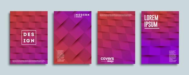 Modello di copertine con disegno geometrico