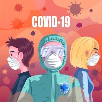 Concetto pandemico di covid 19