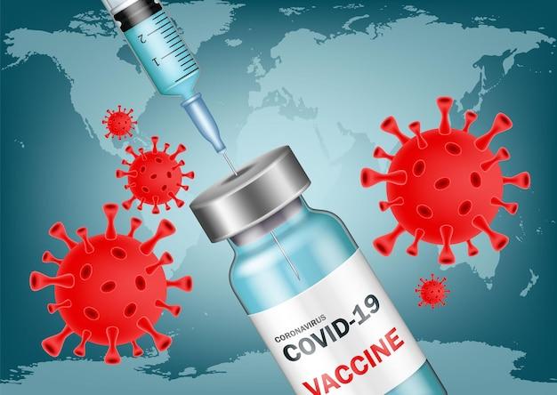 Sfondo della vaccinazione covid-19