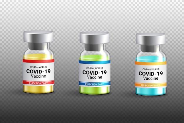 Bottiglia di vaccino covid-19 isolata