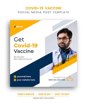 Modello di post instagram vaccino covid 19