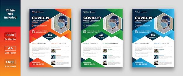 Volantino di conferenza virtuale covid 19