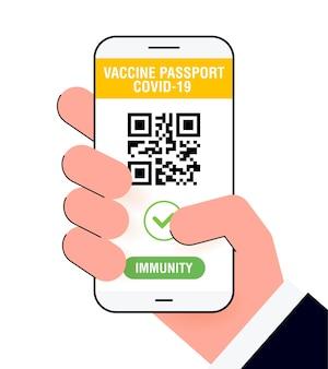 App per passaporto immunitario covid19 certificato di vaccino digitale internazionale per la libera circolazione e viaggi