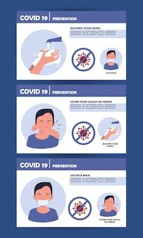 Poster dei metodi di prevenzione della pandemia covid19