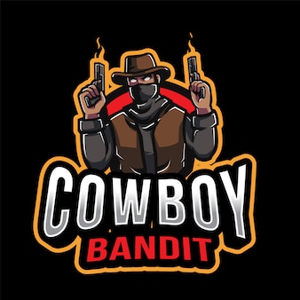Cowboy bandit esport logo template