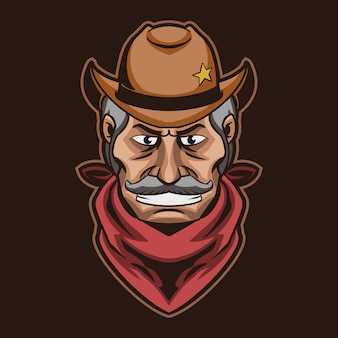 Testa di cowboy