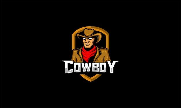 Esport di gioco del logo del cowboy