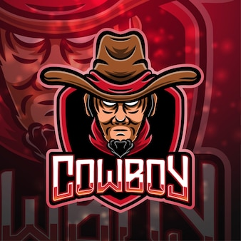 Cowboy sport mascotte logo design