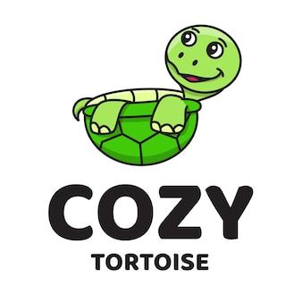 Logo carino tartaruga accogliente