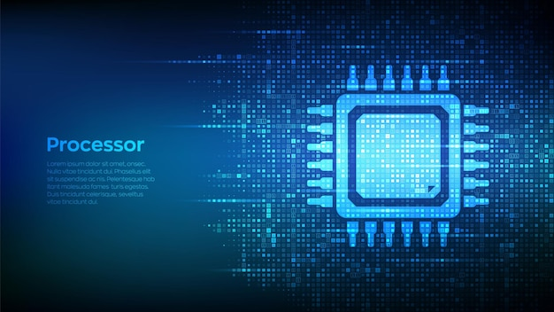 Sfondo del microprocessore cpu
