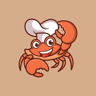 Logo personaggio chef granchio