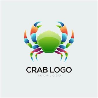 Disegno del logo astratto illustrazione colorata di granchio