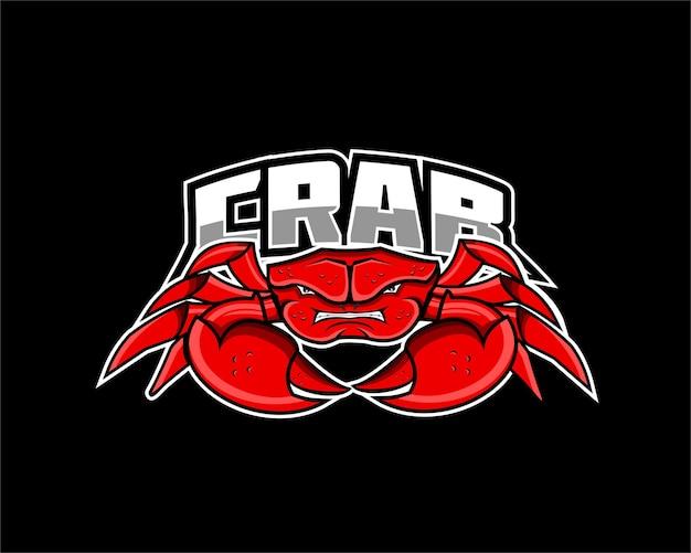 Logo mascotte della squadra di e-sport di granchio