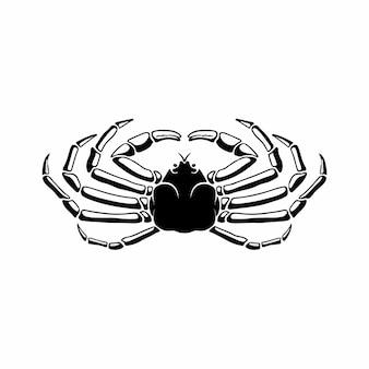 Granchio logo simbolo stencil design tattoo vector illustration