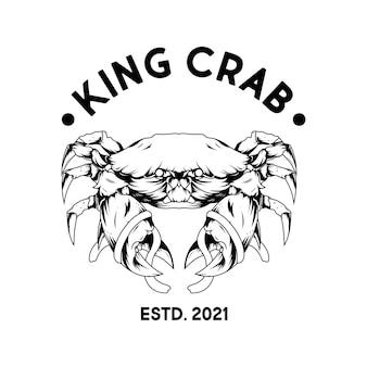 Design del logo del ristorante di granchio