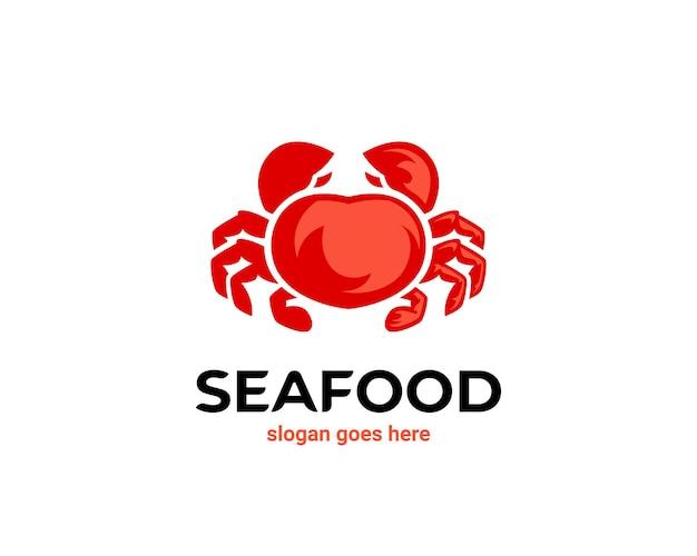 Logo di frutti di mare di granchio