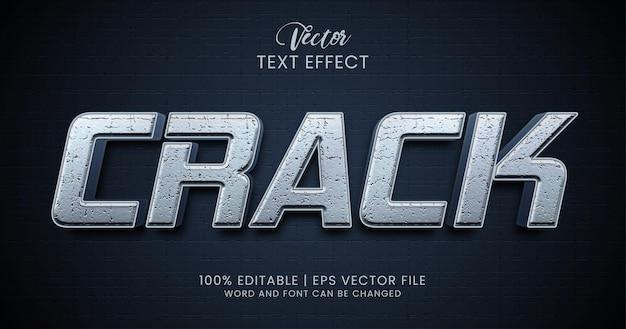 Crepa lo stile dell'effetto di testo modificabile