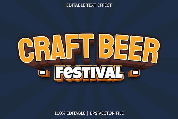 Festival della birra artigianale con effetto di testo modificabile in stile moderno