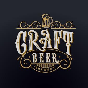 Lettere scritte a mano di birra artigianale