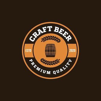 Logo della birra artigianale, birreria emblema
