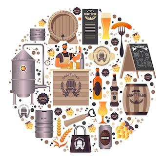 Crea birra artigianale e urla di bevande alcoliche biologiche