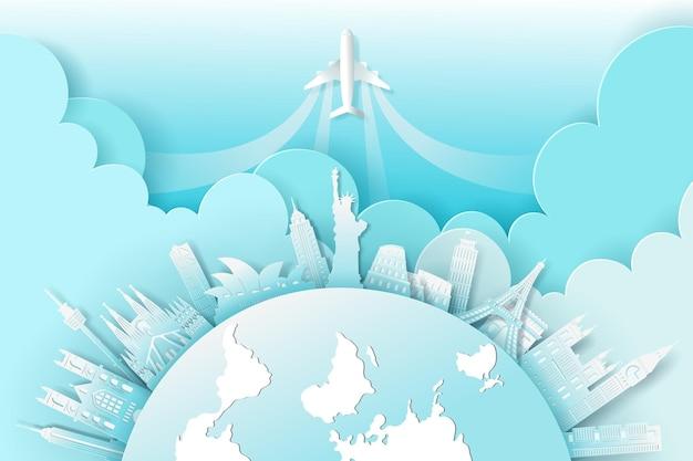Mestiere del punto di riferimento mondiale, concetto di viaggio e turismo.