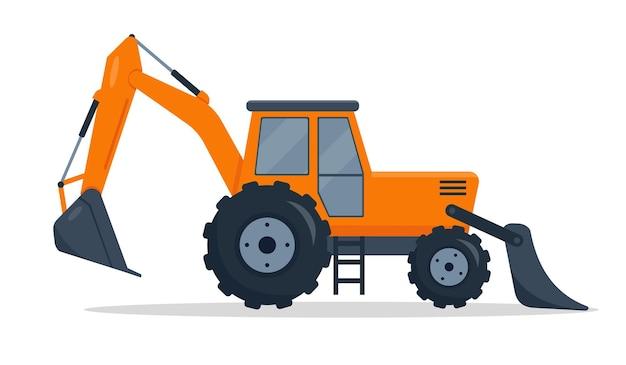 Bulldozer cingolato isolato su priorità bassa bianca