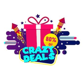 Modello di banner pazzi affari e regali