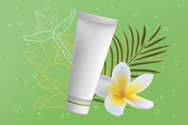 Cosmetici in tubo di crema