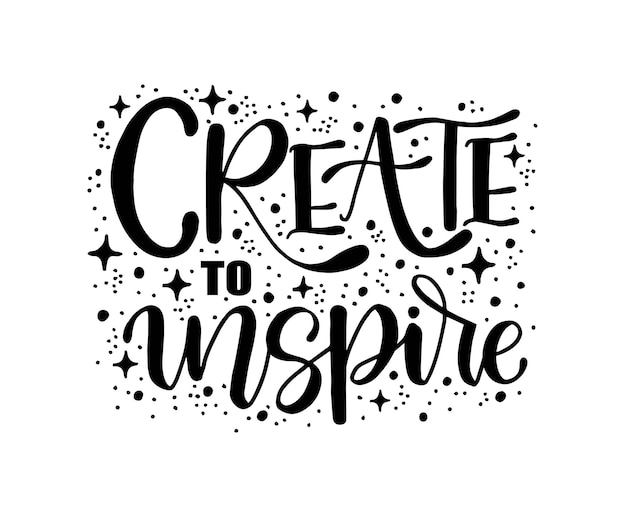 Crea per ispirare lettere calligrafiche scritte a mano scritte