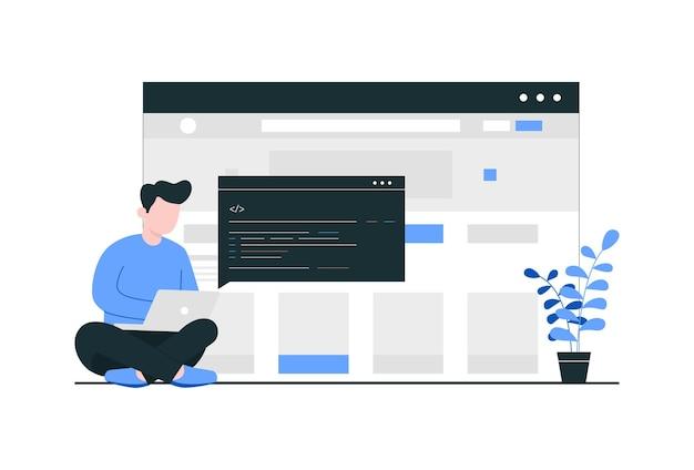 Creazione del concetto di sito web