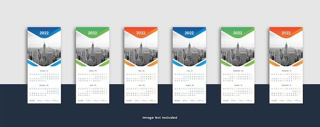 Calendario da parete orizzontale creativo