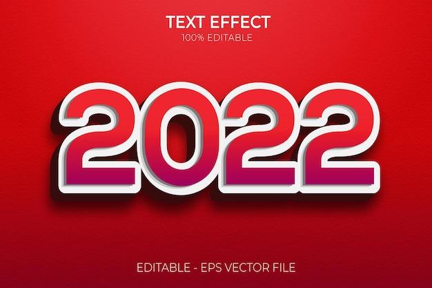 Effetti di testo creativi di felice anno nuovo 3d vettore premium