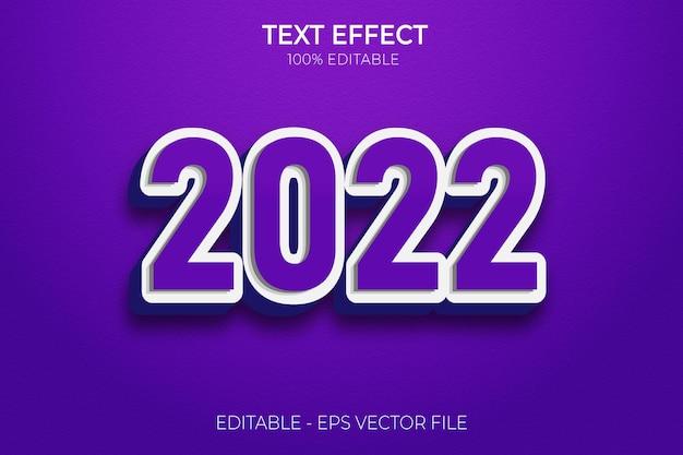 Modello di effetti di testo creativo felice anno nuovo 3d vettore premium