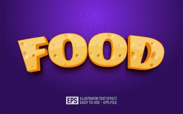 Testo 3d creativo cibo, modello di effetto stile modificabile