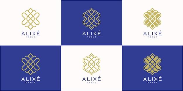 Logo fiore astratto creativo