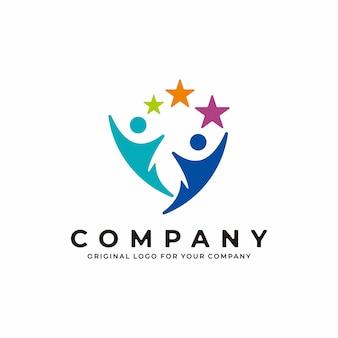 Design del logo umano astratto creativo design del logo del fitness medico sportivo per la salute