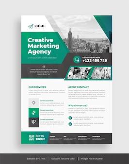 Modello di volantino per agenzia creativa