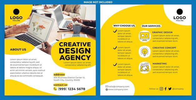 Modello di feed instagram promozione agenzia creativa in stile design piatto