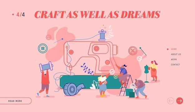 Pagina di destinazione del sito web di creative atelier fashion design.