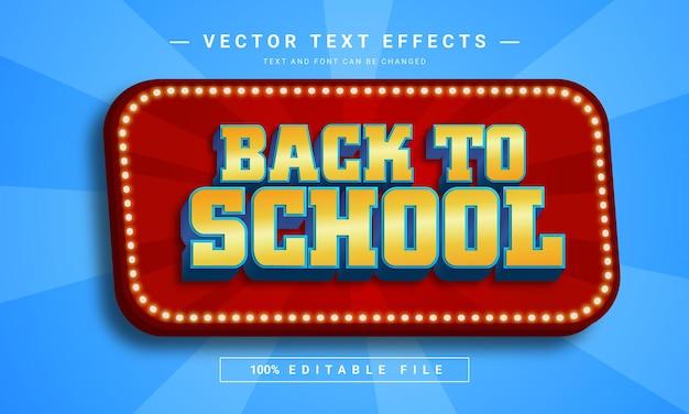Stile di testo per il ritorno a scuola creativo