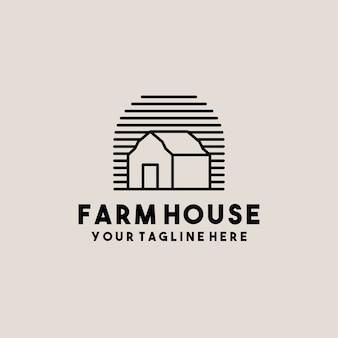 Design del logo creativo fienile fattoria casa