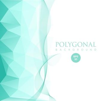 Sfondo di spettro poligonale blu creativo