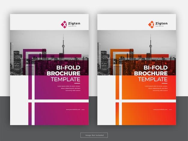 Modello di volantino relazione annuale copertina brochure creativa